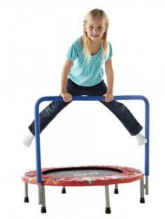Pure Fun 36″ Kids' Mini Trampoline with Hand Rail