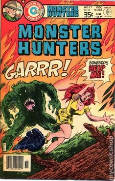 Monster Hunters Cover Art by Tom Sutton Sci Fi Comics, Horror Comics, Marvel Dc Comics, Comic Book Covers, Comic Books Art, Charlton Comics, Vintage Horror, Monster Hunter, Vintage Comics