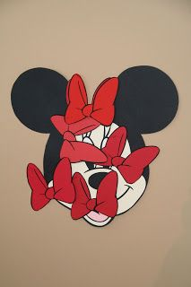PIN THE BOW ON MINNIE - The New McCulloch Family: A Mickey Mouse Clubhouse Birthday Party!