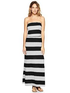 Stripe strapless maxi dress Gap