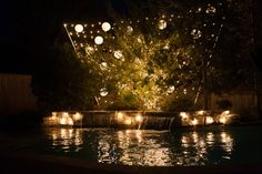 Specialty Lighting for a pool party (Photo Credit: Colorband) #lighting #lightingdecor #eventplanning