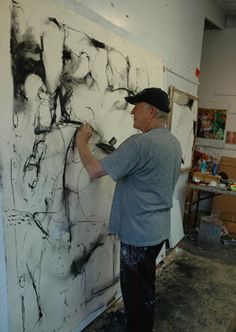 Bob Working on Ooh La La - Museum Show, June 2012