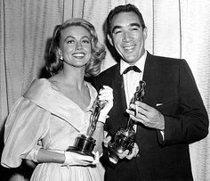 """Oscars: March 27, 1957:  Best picture: 'Around the World in 80 Days', Jerry Lewis hosts in LA , with Celeste Holm in NYC. The first foreign-language film award goes to Federico Fellini's """"La Strada.""""  Actor: Yul Brynner, """"The King and I""""  Actress: Ingrid Bergman, """"Anastasia"""" Supporting actor: Anthony  Quinn, """"Lust for Life"""" Supporting actress: Dorothy Malone, """"Written on the Wind""""  Director: George Stevens, """"Giant"""""""