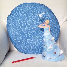 Paper sculpture kits of 'Maiden Voyage' now available along with brain coral cushions!  Perfect decorations for coastal living.  Inspired by sailing and snorkelling adventures.