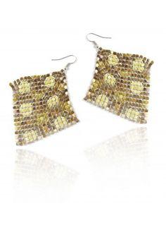 Metal Mesh Earrings ✓ Earrings With Metallic Finishing ✓