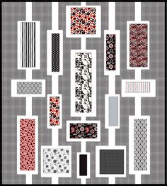 I really like the mod feel of this quilt. I could see modifying it a bit for some more asymmetry... Quilt Evolution...: Blogger's Choice Fat Quarter Bundle Contest