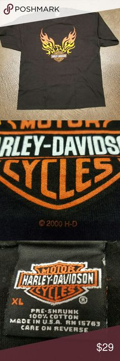 Vintage Harley Davidson Vintage Harley Davidson t-shirt barely worn no holes no tears no stains and great condition. Hanes Shirts Tees - Short Sleeve
