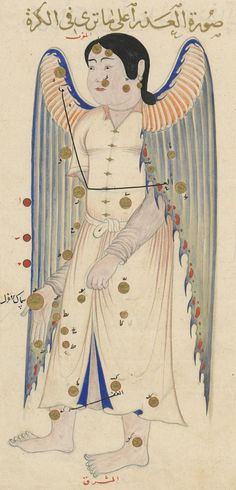 'Book of Fixed Stars' (Kitāb suwar al-kawākib al-ṯābita) Virgo (1430-1440)