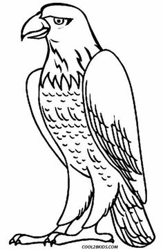 Bald Eagle Coloring Page for Kids | Patriotic Coloring Pages ...
