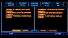 The Fly (1986). Teleportation computer UI. #FUI #UI