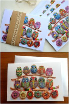 We Fell Head Over Heels For These Adorable Painted Owl Rocks Painted Stepping Stones, Painted Rocks Craft, Rock Painting Patterns, Rock Painting Designs, Stone Crafts, Rock Crafts, Stone Art Painting, Owl Rocks, Owl Quilts