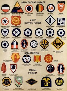 See dozens of vintage US Army & Navy shoulder insignia, plus WWII military medals & ribbons - Click Americana Military Medals And Ribbons, Vietnam Map, Airborne Army, Us Army Patches, Military Insignia, Army & Navy, African American History, American Civil War, Military History