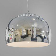 Fermo 40cm chrome pendant light - lampenundleuchten.de