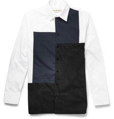 MarniPanelled Cotton-Poplin Shirt