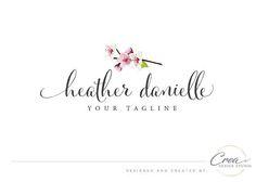 Cherry blossoms logo Photography logo design Business brand