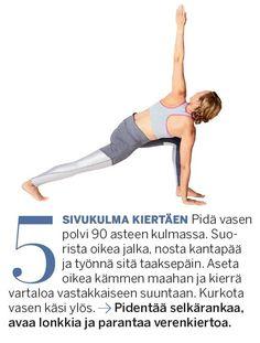 Aineenvaihdunta käyntiin ja lisää energiaa! Herätä keho 10 minuutin joogasarjalla | Me Naiset Keeping Healthy, Hiit, Feel Better, Pilates, Health Fitness, Wellness, Exercise, Workout, Feelings