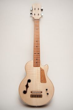 Les Paul style Tenor ukulele Natural wood by celentanowoodworks