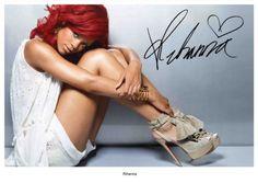 Rihanna Signed - Autographed Reprint 8x10 Photo in Entertainment Memorabilia, Autographs-Reprints, Music, Photographs | eBay