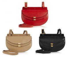 Chloé Georgia Mini Leather Shoulder Bag Saddle Bags 9e6d8e2343