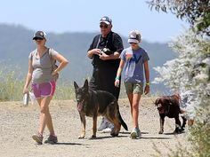 REESE WITHERSPOON  he mom-to-be spends some quiet time with dad John and daughter Ava in L.A., where the trio went hiking with the family dogs.