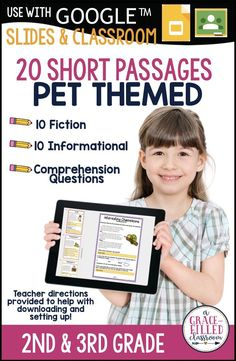 Take a look at these pet-theme no prep, short passages! They are excellent for second graders to practice comprehension. Your students will be able to practice with 10 fiction passages and 10 non-fiction passages. The passages are engaging and will motivate students to read. Each passage has 3-4 text-based questions and a written response question. #AGracceFilledClassroom #ReadingComprehension #PetThemeIdeas