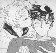 """Usagi & Mamoru - Because really, they were so much cuter in the manga than they were in the anime."" -somebody else's very accurate statement. The anime makes their relationship seem borderline emotionally abusive :( Sailor Moons, Sailor Moon Manga, Sailor Moon Crystal, Arte Sailor Moon, Sailor Scouts, Studio Ghibli, Sailor Moon Aesthetic, Sailor Moon Wallpaper, Tuxedo Mask"