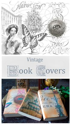 Make Vintage Book Covers! This is a fun Printable DIY Craft Project by Thicketworks for The Graphics Fairy!