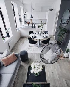 Living room furniture for your home small living room design, small living Living Room Grey, Small Living Rooms, Living Room Furniture, Living Room Decor, Modern Living, Living Spaces, Apartment Interior, Apartment Living, Interior Design Living Room