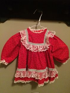 Christmas Dress by Bryan, Size 12-18 Months by JustClickThreeTimes on Etsy