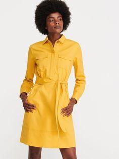 Nakupujte online! Žluté košilové šaty, RESERVED, WX273-11X Yellow Shirts, Wrap Dress, Shirt Dress, Outfits, Bauhaus, Dresses, Outfit Ideas, Fashion, Dress Ideas