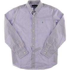 Polo Ralph Lauren 2100 Mens Purple Cotton Checkered Button-Down Shirt XL.Price Guarantee! Retail Price $89.50