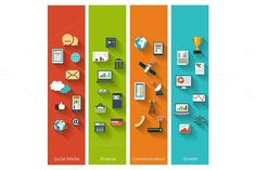 Collection of modern concepts. Business Infographic. $7.00