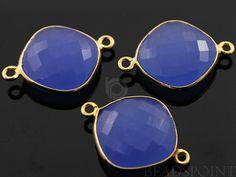 Blue Chalcedony Bezel Cushion Shape Gemstone by Beadspoint on Etsy, $8.99
