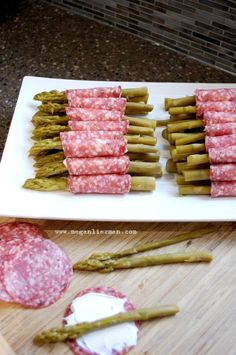 Most popular appetizer at gatherings: pickled asparagus roll-ups from www.meganlierman.com. #glutenfree #dairyfree #lowcarb