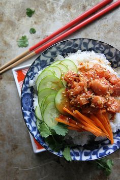 Spicy Salmon Sushi Bowl by Heather Christo
