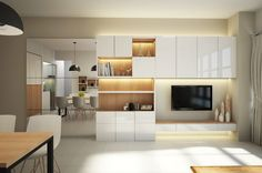 Condo- Kent View Park Pasir Panjang Hill  - Condominium - Living Room. Design by Designscale Pte Ltd