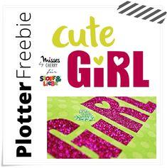 """Plotterfreebie """"cute Girl"""" von Nemada"""