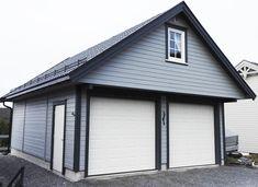 - 620x800 (49,6 KVM) - 36° takvinkel - 60 cm fremskutt front - Se flere løsninger og modeller på garasjer.no Garage Doors, Outdoor Decor, Home Decor, Model, Homemade Home Decor, Decoration Home, Interior Decorating