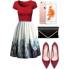 New York Skyline!!!! by merima2002 on Polyvore featuring Chicwish, Zara, women's clothing, women's fashion, women, female, woman, misses and juniors