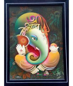 Ganesha Painting, Ganesha Art, Lord Ganesha, Hindu Art, Hinduism, Indian Art, Mythology, Fairy Tales, Wallpaper
