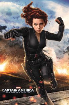 Captain America 2 - Black Widow Poster