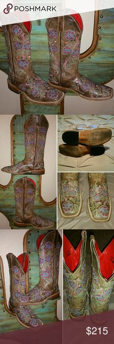 Macie Bean Cowboy Western Anderson Boot Size 9.5 - Runs true to size.  (If you're a size 8.5 - 9 could use a boot insert to make them fit).......Gently worn a couple times.....shows signs of wear....**Still need to be broke in** Macie Bean Shoes