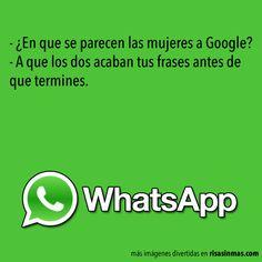 Chistes de WhatsApp: Google y las mujeres.
