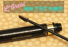 L'Oreal Brow Stylist Plumper is a fiber infused brow gel mascara. The conveniently sized & shaped brush gives my brows more volume & fills in sparse spots.