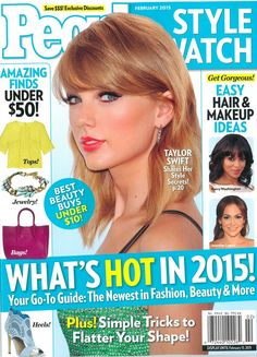 People Magazine Style Watch Cover : Taylor Swift. 2-2015