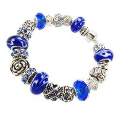 SALE!  European charm bracelet BLUE