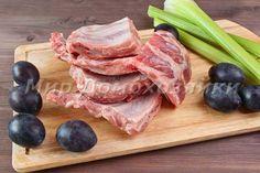 Pork ribs with plums  Свиные ребрышки со сливами #pork #ribs #plums