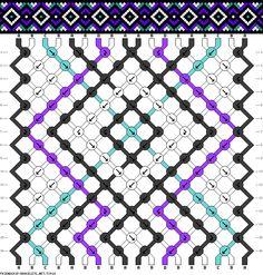 #73918 - friendship-bracelets.net 18 fils - 4 couleurs