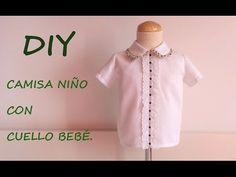 Como hacer una camisa de niño y cuello bebé con Gema de patronesmujer.com - YouTube