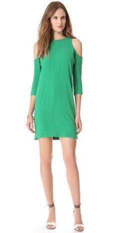 Tibi Cutout Shoulder Dress   SHOPBOP